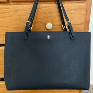 Tory Burch Large Emerson Tote - Navy blue
